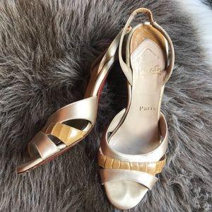 Christian Louboutin slingback heels 37.5